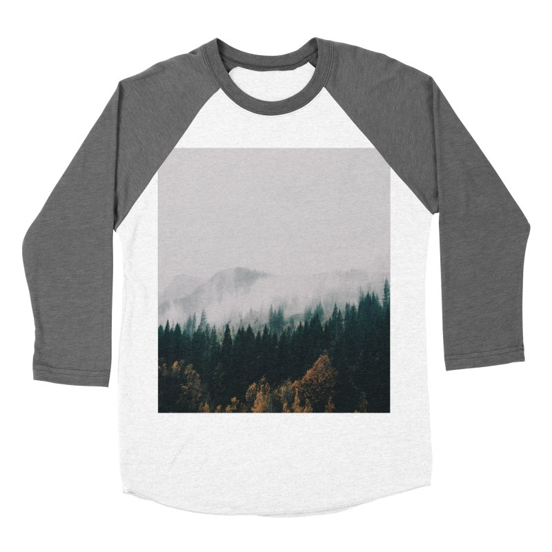Forest Fog Women's Baseball Triblend Longsleeve T-Shirt by hannahkemp's Artist Shop