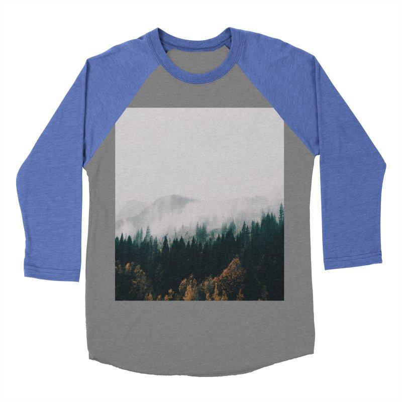 Forest Fog Women's Baseball Triblend Longsleeve T-Shirt by hannahkemp's Artist Shop