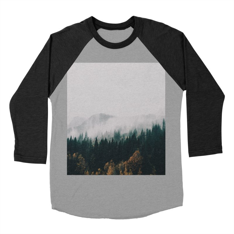 Forest Fog Women's Baseball Triblend T-Shirt by hannahkemp's Artist Shop