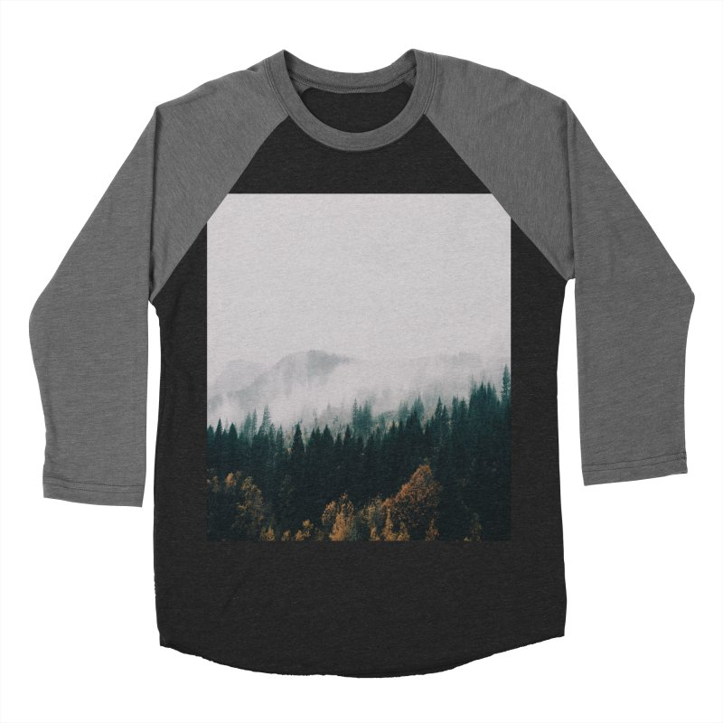 Forest Fog Men's Baseball Triblend Longsleeve T-Shirt by hannahkemp's Artist Shop