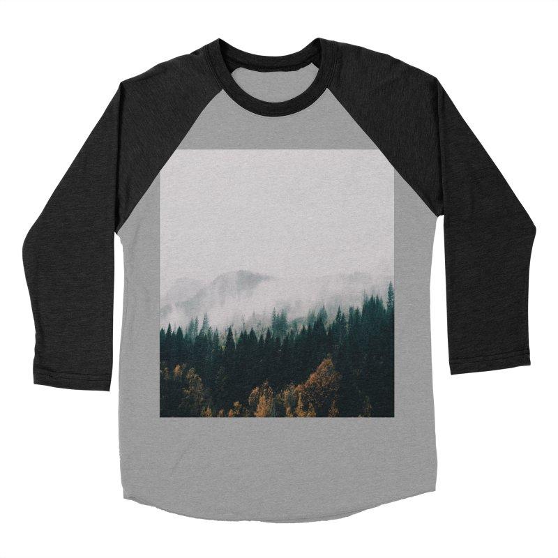 Forest Fog Men's Baseball Triblend Longsleeve T-Shirt by hannahkemp's Artist Shop