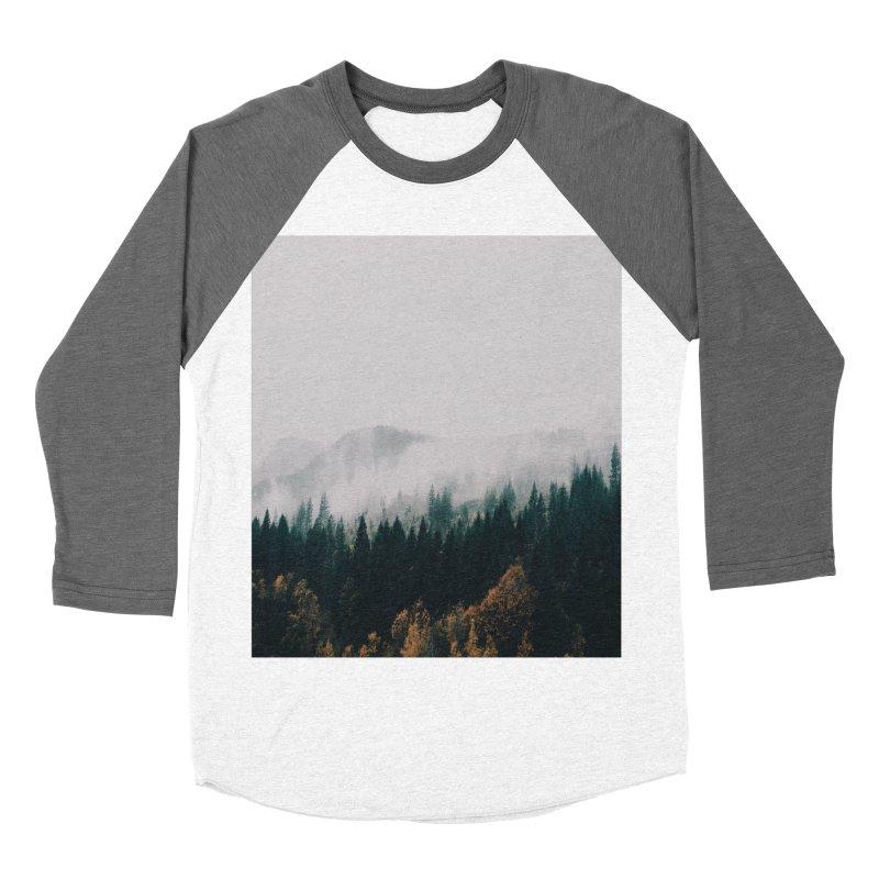 Forest Fog Men's Baseball Triblend T-Shirt by hannahkemp's Artist Shop