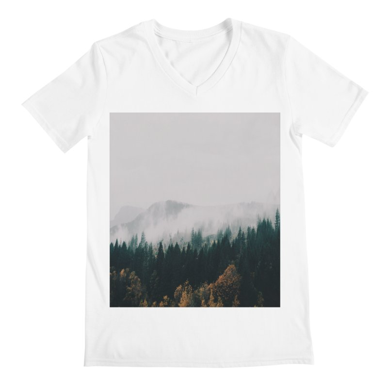Forest Fog Men's V-Neck by hannahkemp's Artist Shop