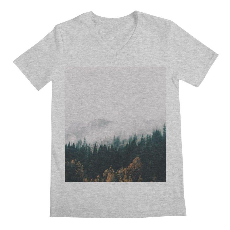 Forest Fog Men's Regular V-Neck by hannahkemp's Artist Shop