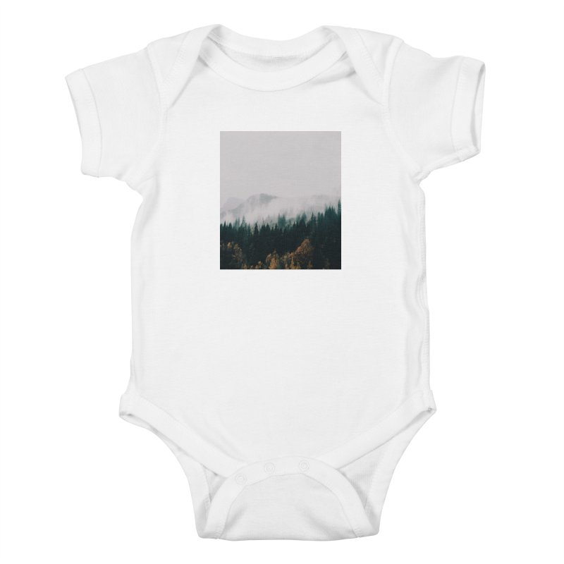 Forest Fog Kids Baby Bodysuit by hannahkemp's Artist Shop