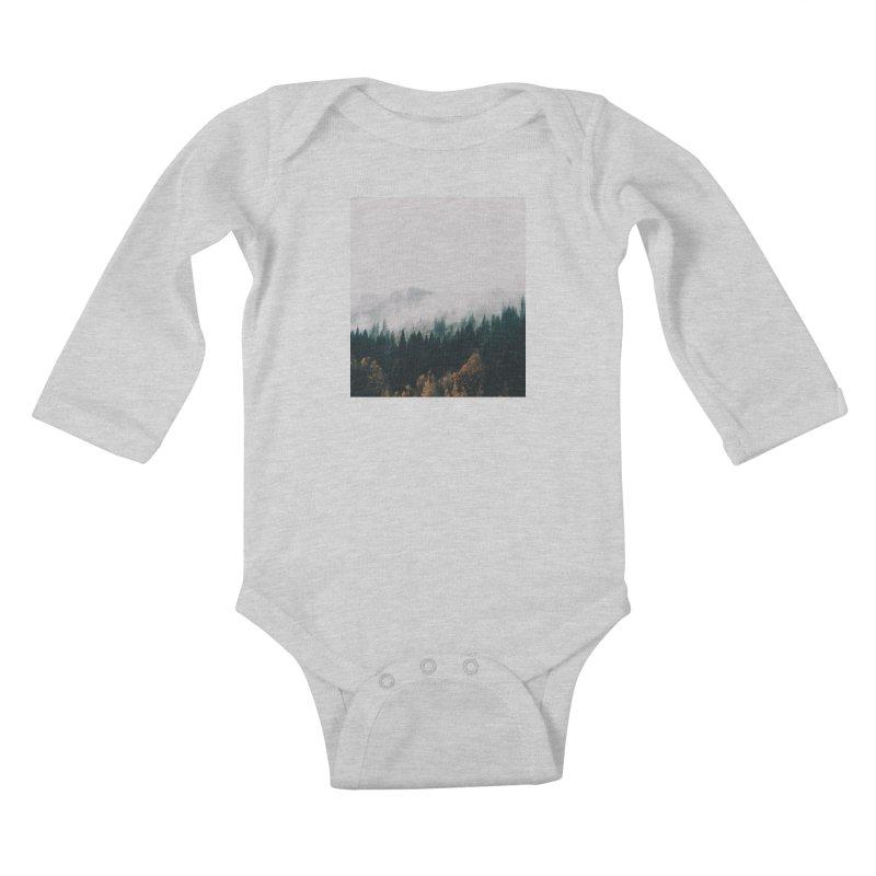 Forest Fog Kids Baby Longsleeve Bodysuit by hannahkemp's Artist Shop