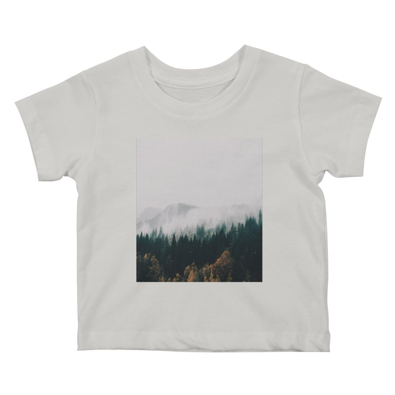 Forest Fog Kids Baby T-Shirt by hannahkemp's Artist Shop