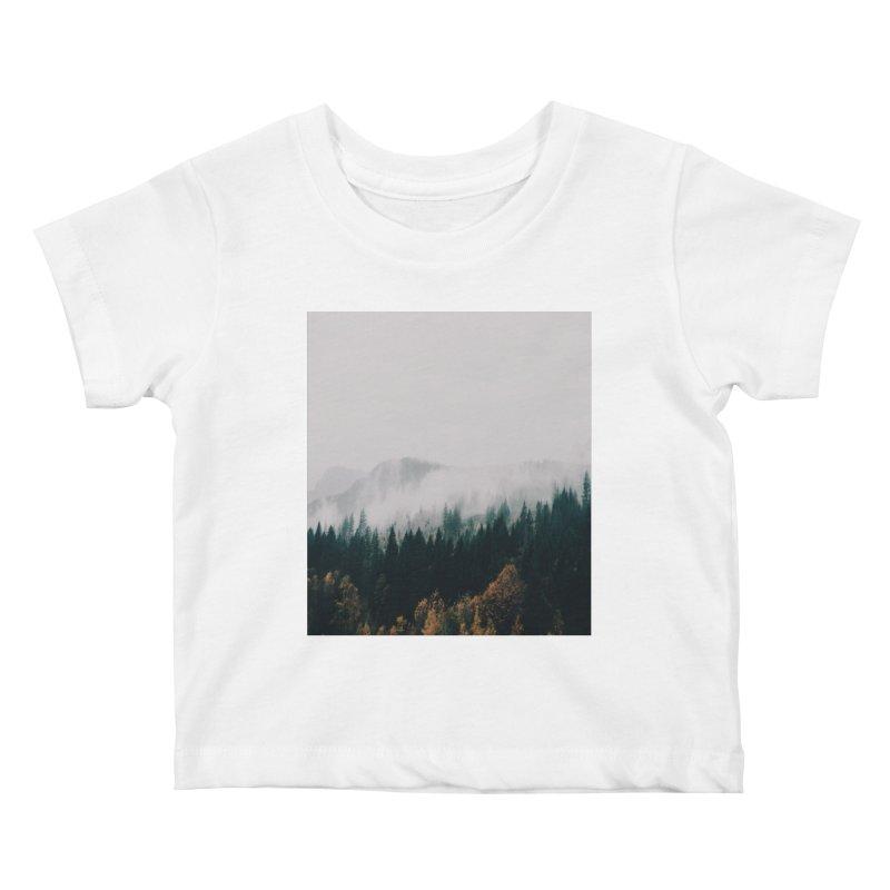Forest Fog Kids Baby T-Shirt by hannahkemp's Artist Shop