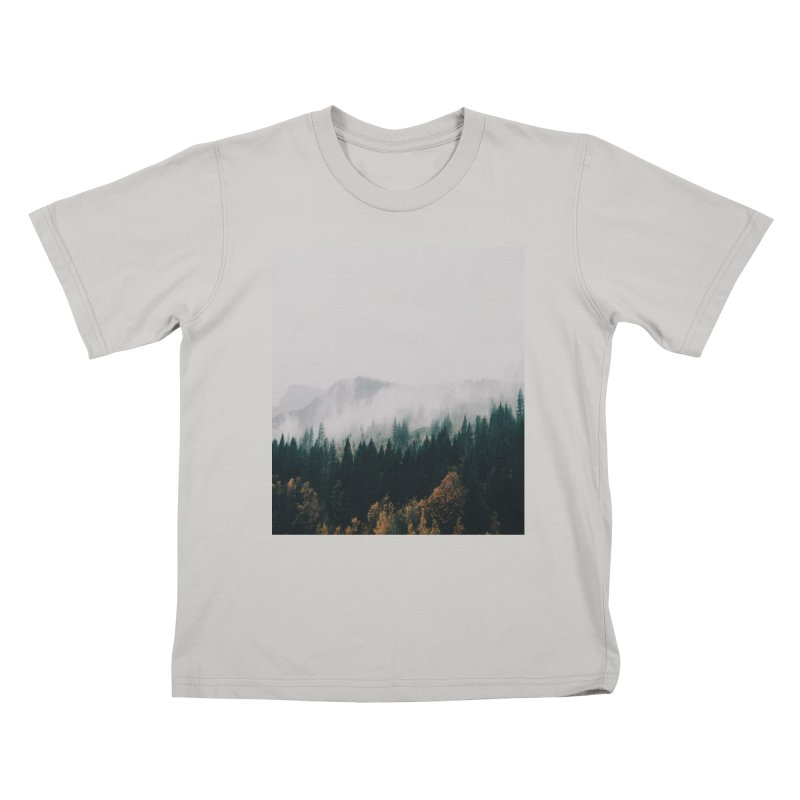 Forest Fog Kids T-Shirt by hannahkemp's Artist Shop