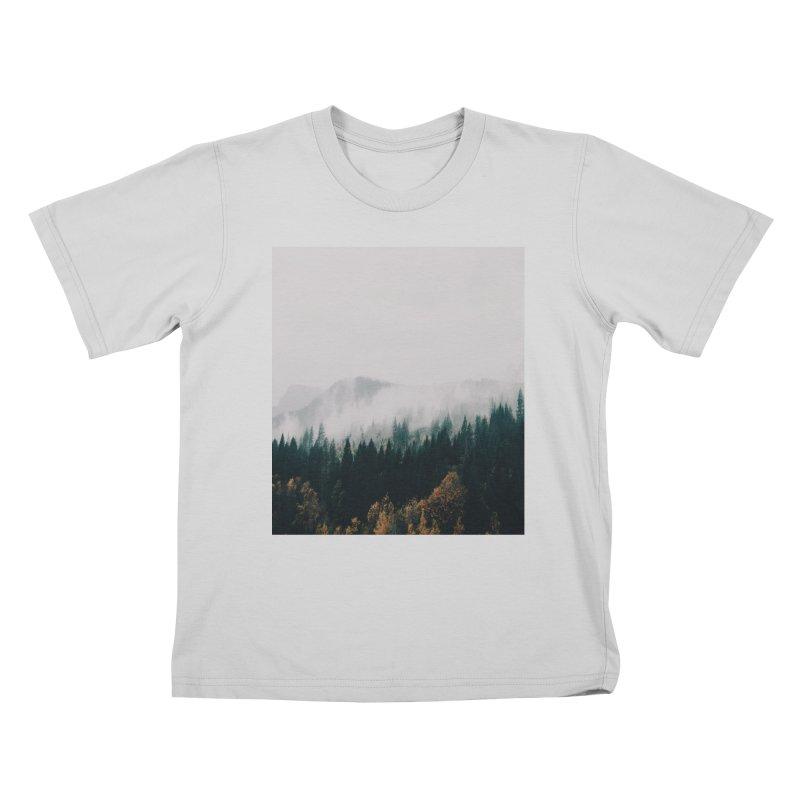 Forest Fog Kids T-Shirt by hannahkemp's Artist Shop