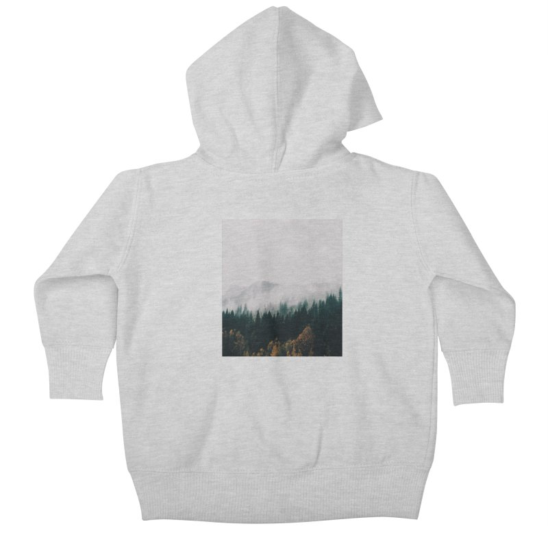 Forest Fog Kids Baby Zip-Up Hoody by hannahkemp's Artist Shop