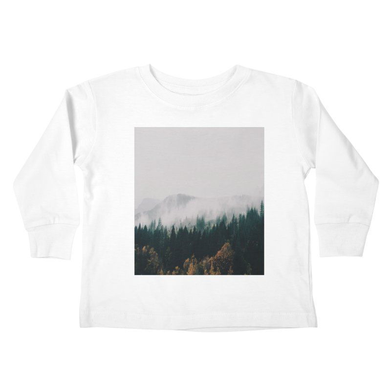 Forest Fog Kids Toddler Longsleeve T-Shirt by hannahkemp's Artist Shop