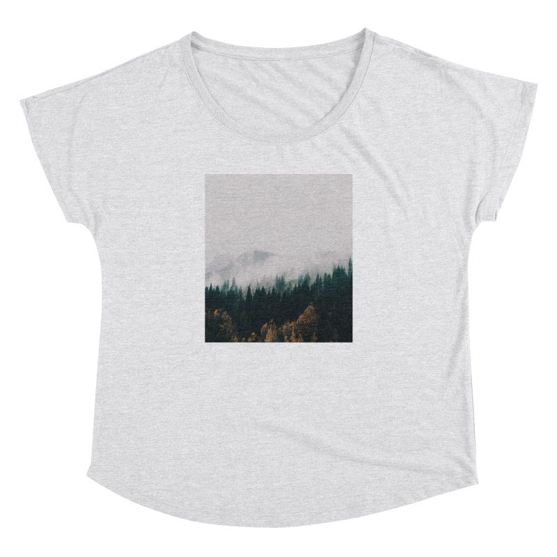 Forest Fog Women's Dolman Scoop Neck by hannahkemp's Artist Shop