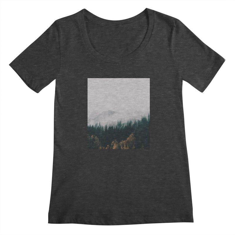 Forest Fog Women's Scoopneck by hannahkemp's Artist Shop
