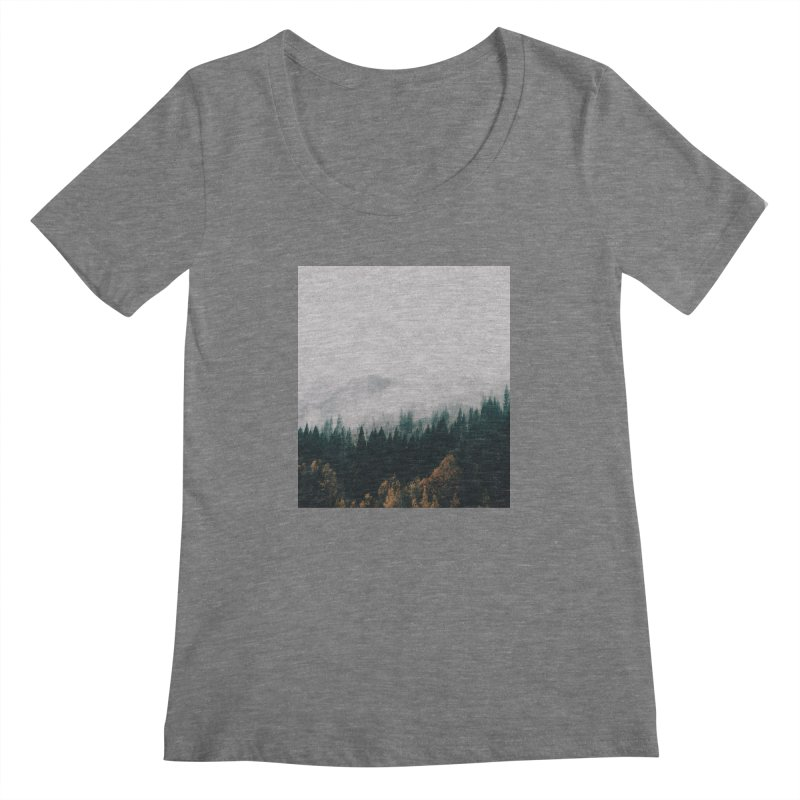 Forest Fog Women's Scoopneck by hannahkemp's Artist Shop