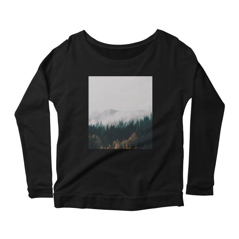 Forest Fog Women's Scoop Neck Longsleeve T-Shirt by hannahkemp's Artist Shop