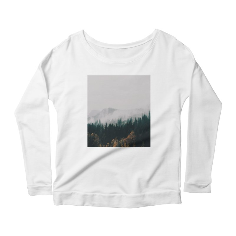 Forest Fog Women's Longsleeve Scoopneck  by hannahkemp's Artist Shop