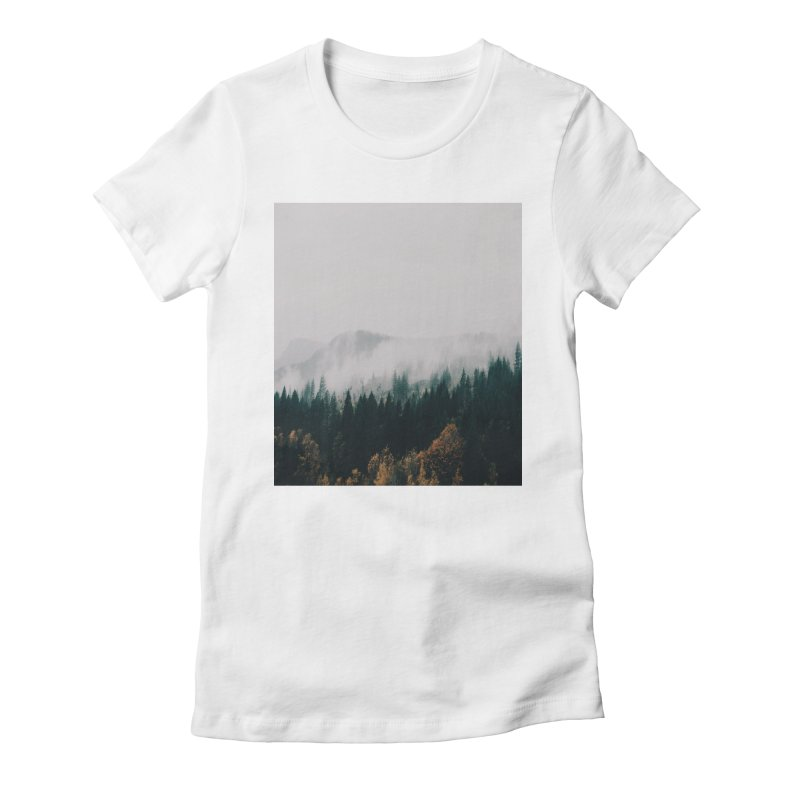 Forest Fog Women's Fitted T-Shirt by hannahkemp's Artist Shop