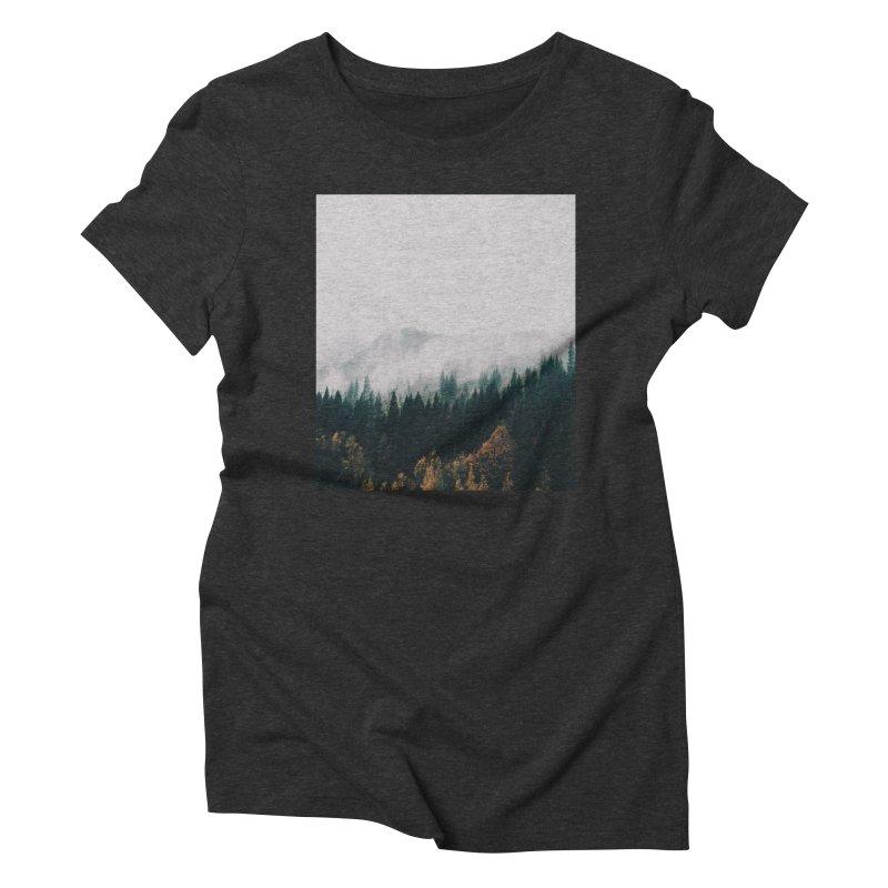 Forest Fog Women's Triblend T-Shirt by hannahkemp's Artist Shop
