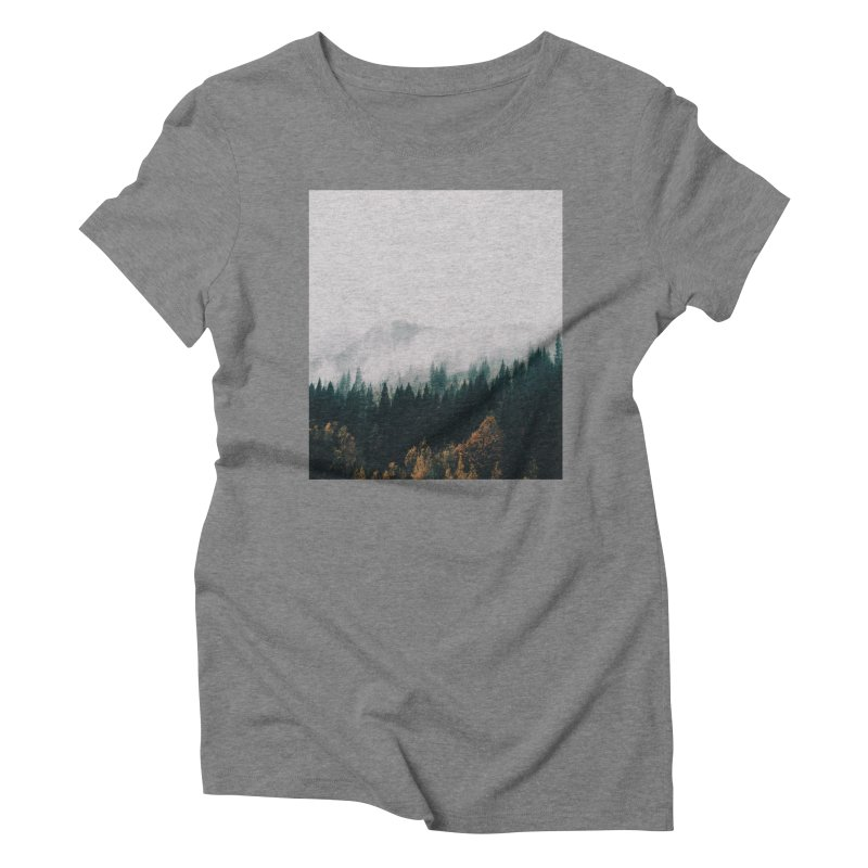 Forest Fog Women's Triblend T-Shirt by hannahkemp's Artist Shop