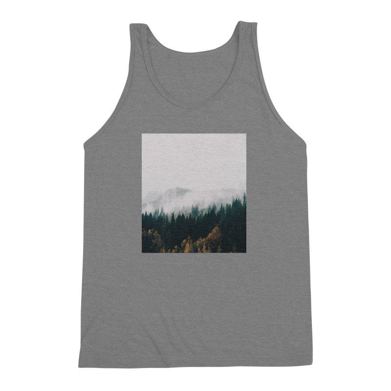 Forest Fog Men's Triblend Tank by hannahkemp's Artist Shop