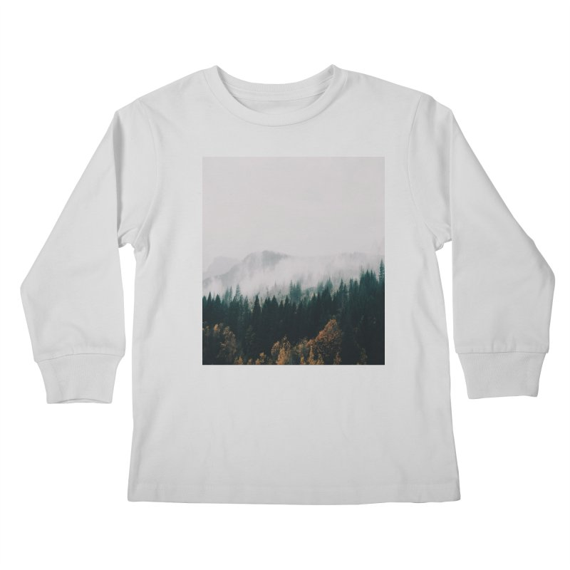 Forest Fog Kids Longsleeve T-Shirt by hannahkemp's Artist Shop