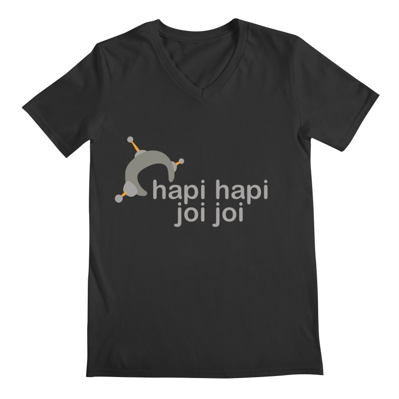 hapi hapi joi joi (Dark) Men's Regular V-Neck by hapi.js