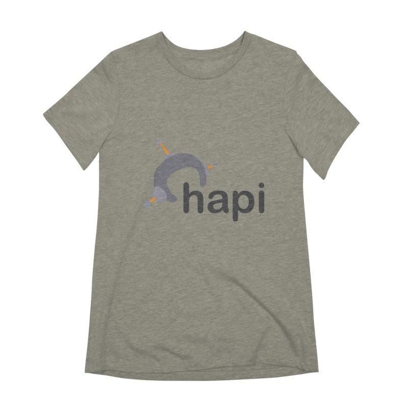 Logo (Light) Women's Extra Soft T-Shirt by hapi.js