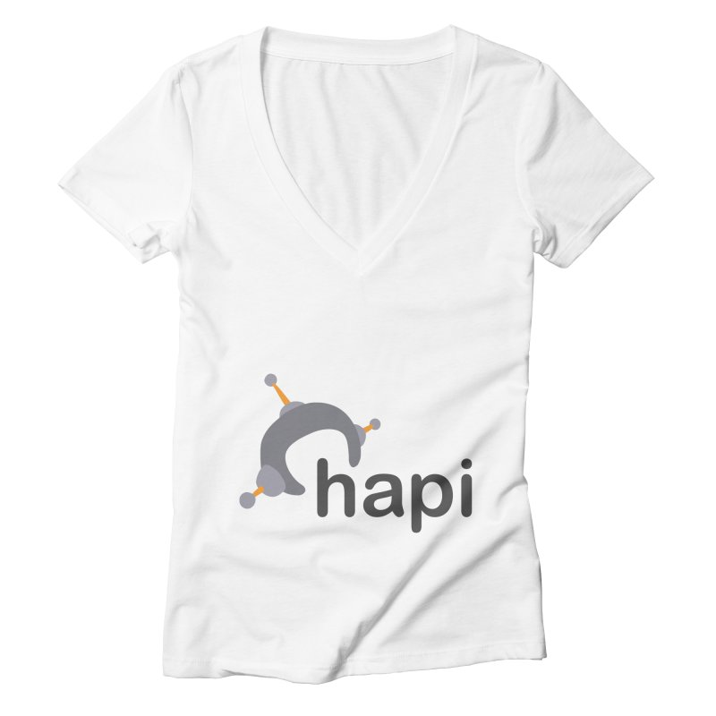 Logo (Light) Women's Deep V-Neck V-Neck by hapi.js