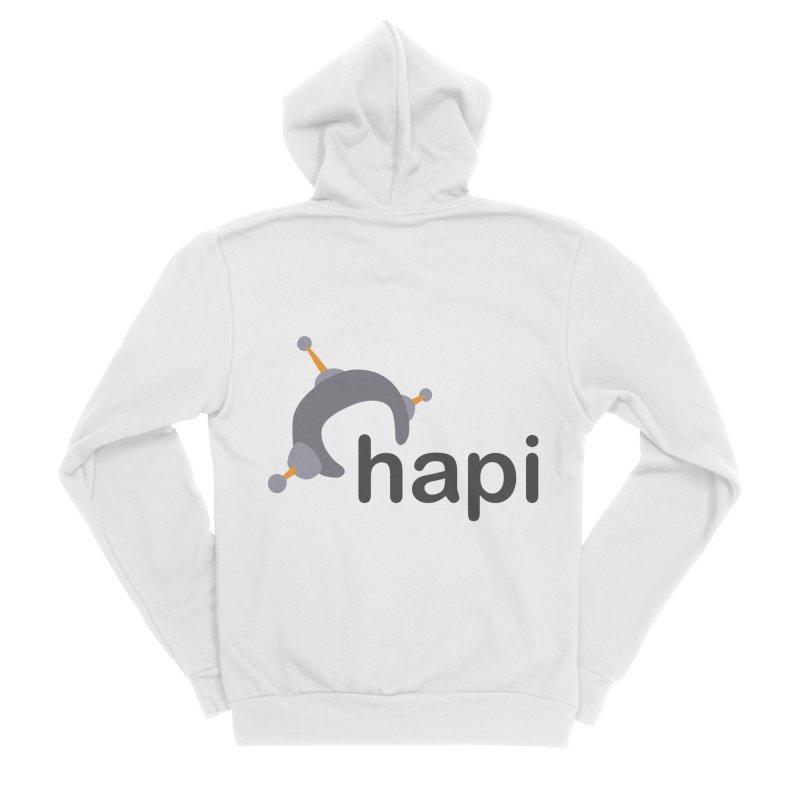 Logo (Light) Men's Sponge Fleece Zip-Up Hoody by hapi.js