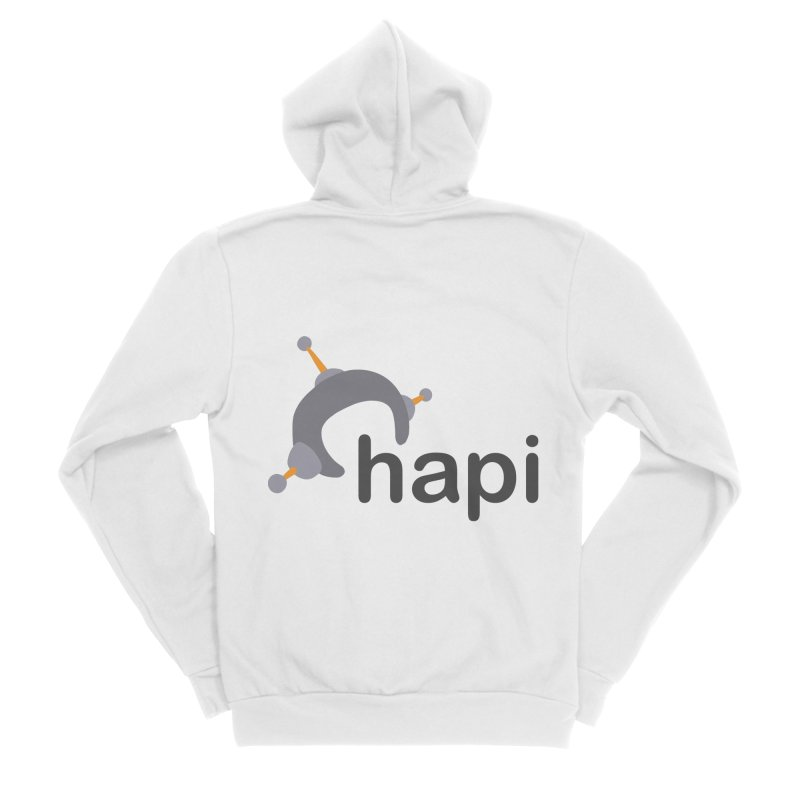 Logo (Light) Women's Sponge Fleece Zip-Up Hoody by hapi.js