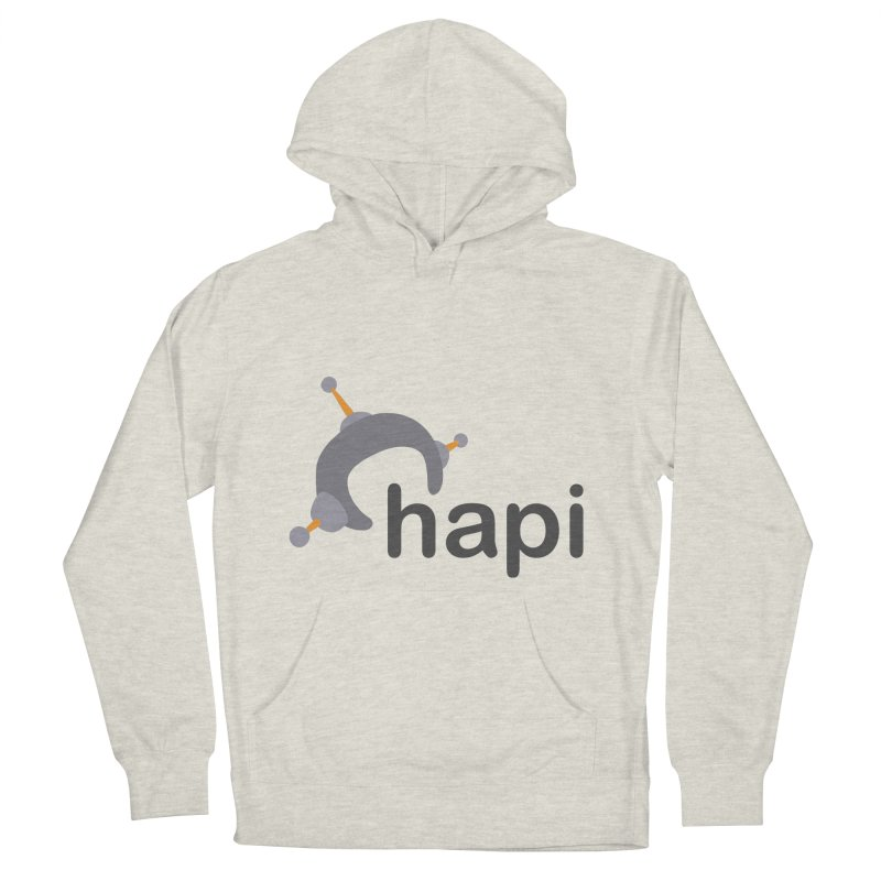 Logo (Light) Women's French Terry Pullover Hoody by hapi.js