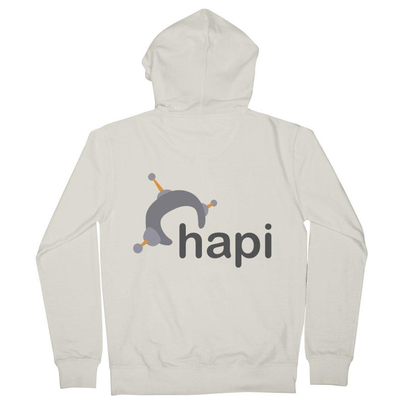 Logo (Light) Men's Zip-Up Hoody by hapi.js