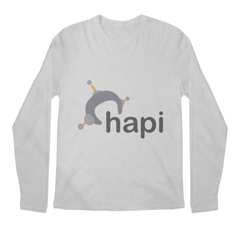 Logo (Light) Men's Regular Longsleeve T-Shirt by hapi.js