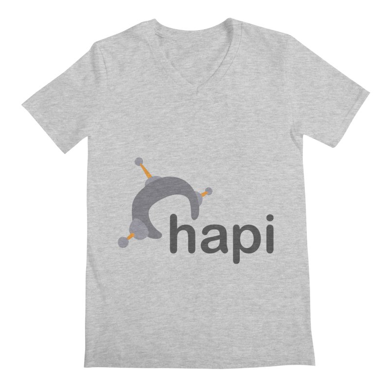 Logo (Light) Men's Regular V-Neck by hapi.js