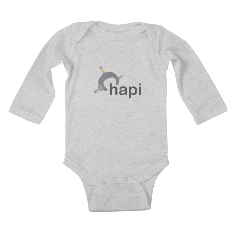 Logo (Light) Kids Baby Longsleeve Bodysuit by hapi.js