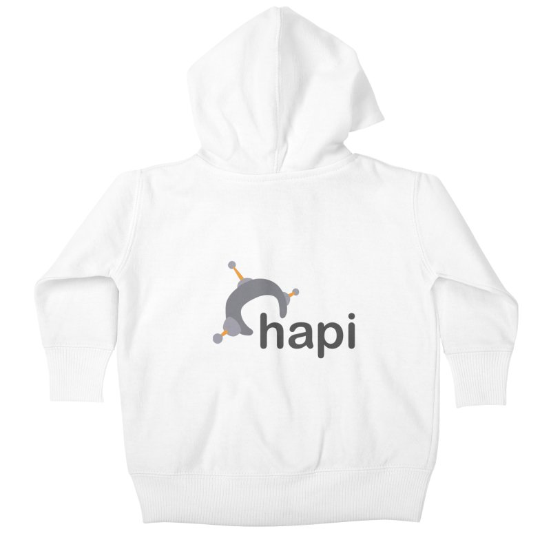 Logo (Light) Kids Baby Zip-Up Hoody by hapi.js
