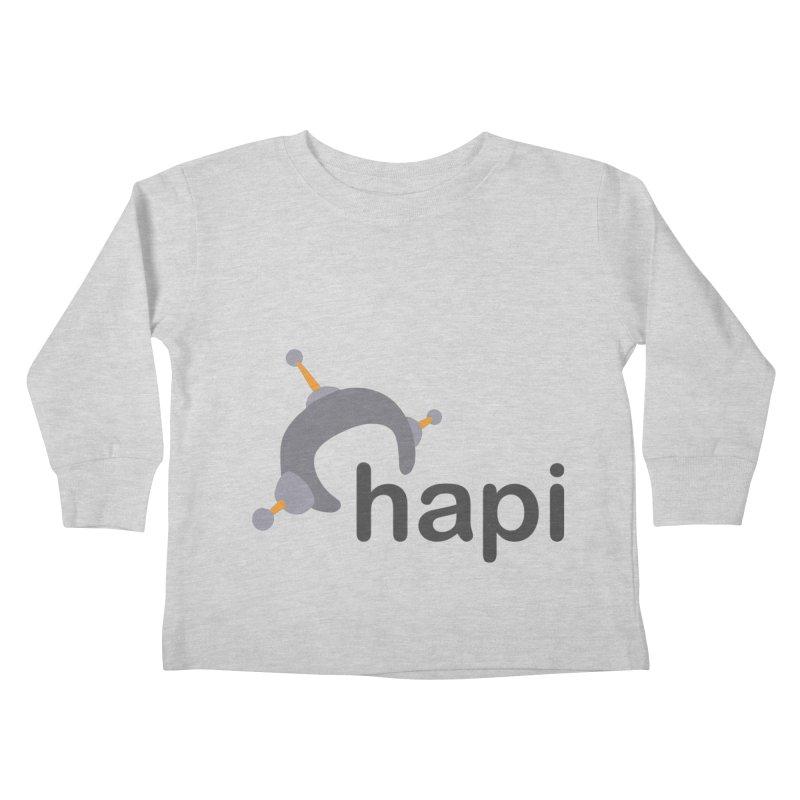 Logo (Light) Kids Toddler Longsleeve T-Shirt by hapi.js