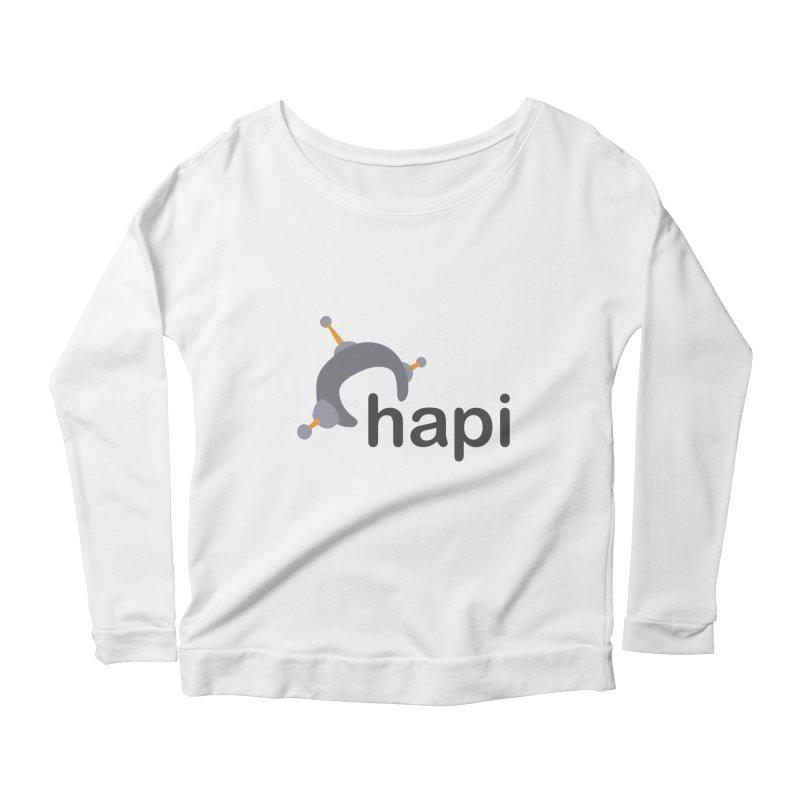 Logo (Light) Women's Scoop Neck Longsleeve T-Shirt by hapi.js