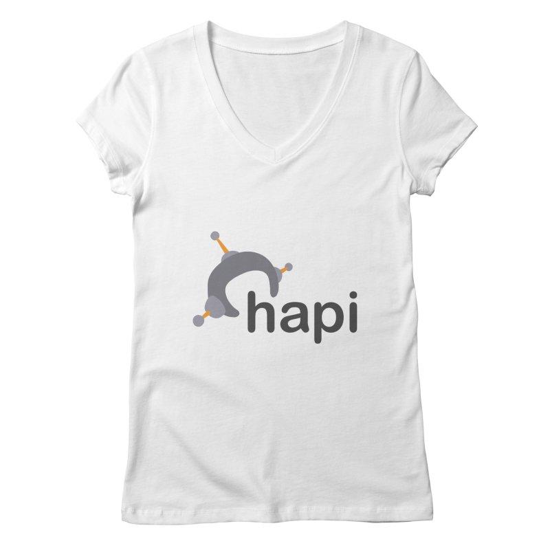 Logo (Light) Women's Regular V-Neck by hapi.js