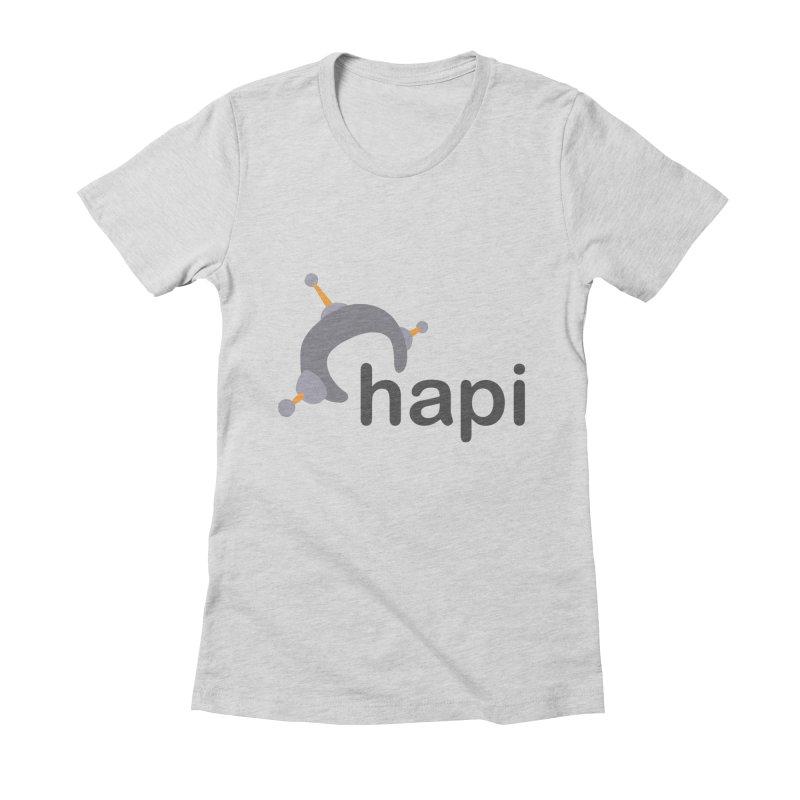 Logo (Light) Women's Fitted T-Shirt by hapi.js