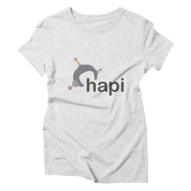 Logo (Light) Women's Triblend T-Shirt by hapi.js