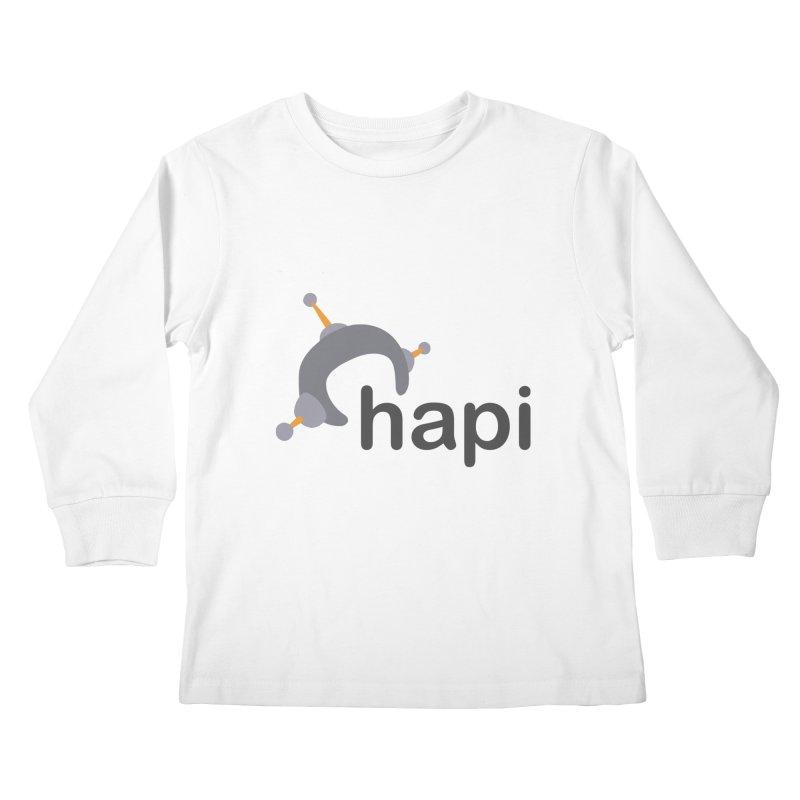 Logo (Light) Kids Longsleeve T-Shirt by hapi.js