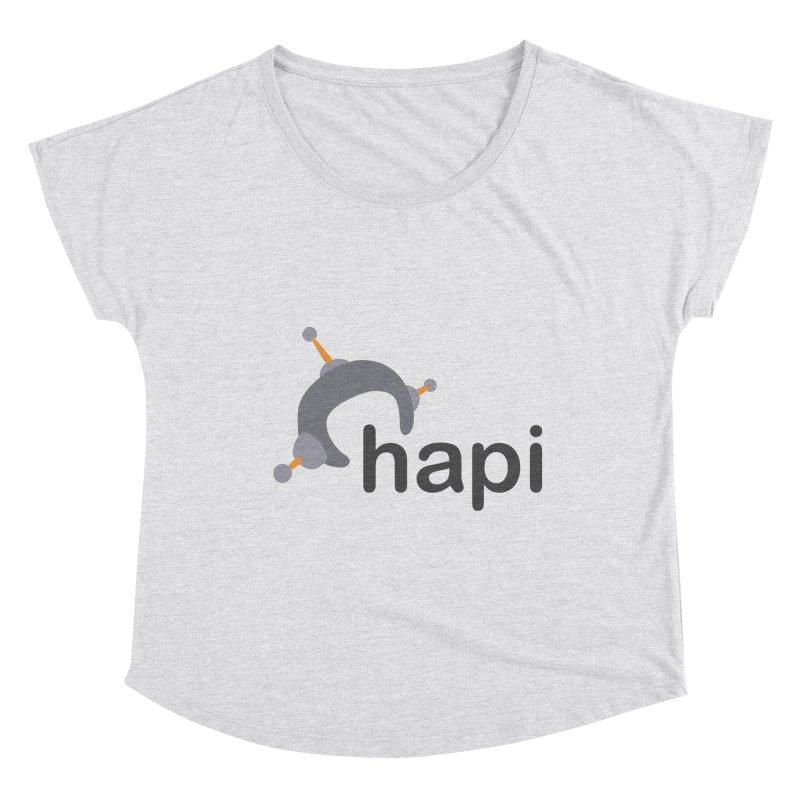 Logo (Light) Women's Scoop Neck by hapi.js