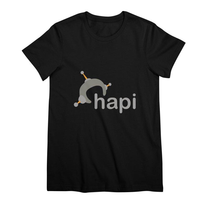 Logo (Dark) Women's Premium T-Shirt by hapi.js