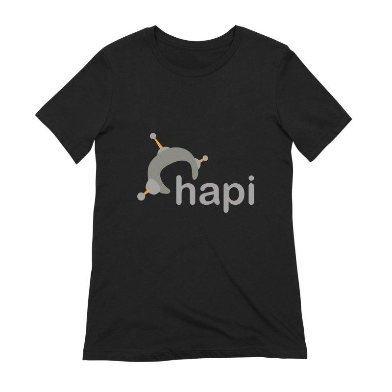 Logo (Dark) Women's Extra Soft T-Shirt by hapi.js