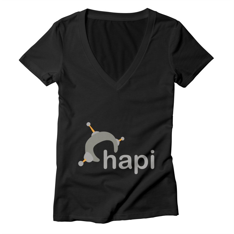 Logo (Dark) Women's Deep V-Neck V-Neck by hapi.js