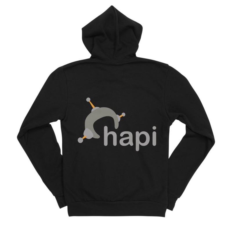 Logo (Dark) Women's Sponge Fleece Zip-Up Hoody by hapi.js