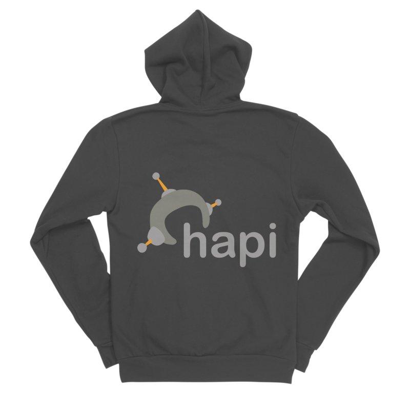 Logo (Dark) Men's Sponge Fleece Zip-Up Hoody by hapi.js