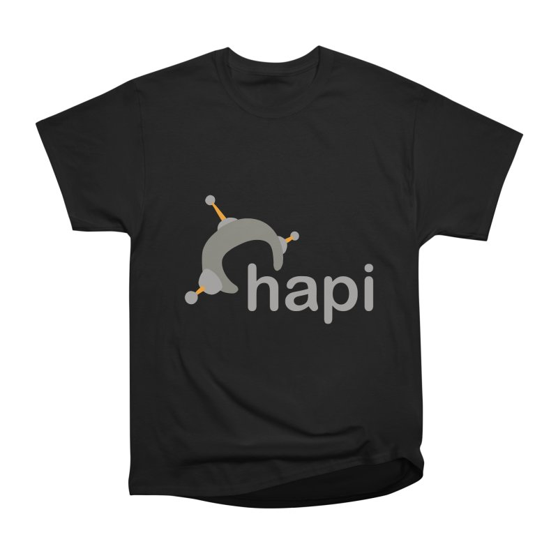 Logo (Dark) Women's Heavyweight Unisex T-Shirt by hapi.js
